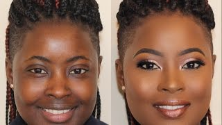 Chocolate Beat on Melanin Skin!   Makeup Transformation 8 •  Poised by Suliat