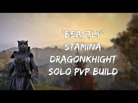 'Beastly' Stamina Dragon Knight PVP Build - ESO Homestead