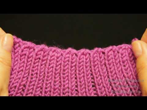 Как закрыть резинку иглой при вязании спицами