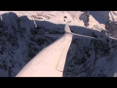 Sport of Kings - Gliding along the summit ridge of  Mount Cook New Zealand