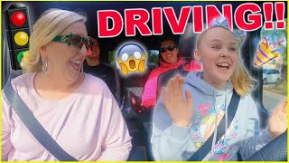 DRIVING FOR THE FIRST TIME!!!!