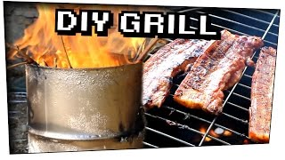 EXPERIMENT / GRILL aus STAHLFASS bauen ! - Do it yourself #05