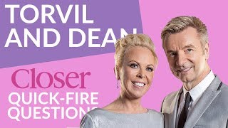 Torvill And Dean Quick-Fire Confessions | Dancing On Ice 2018 | Closer Online