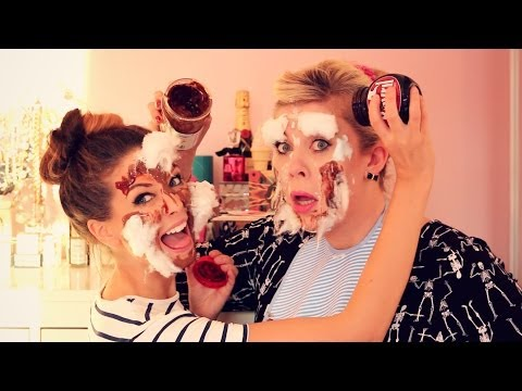The Household Makeup Challenge with Louise | Zoella