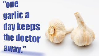 The benefits of garlic. ( health tips part one)