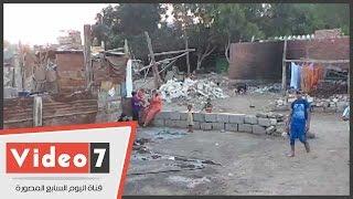 """بالفيديو .. سكان عزبة السبع :""""نعيش عيشه الأموات"""""""