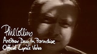 Phil Collins - Another Day In Paradise (Official Lyrics Video)