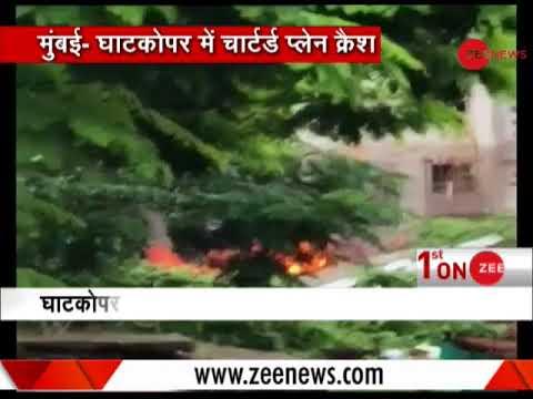 BREAKING: Chartered plane crashes in Ghatkopar, Mumbai