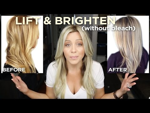 How To Lift and Brighten your blonde in one step. without bleach!