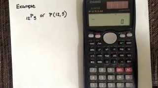 Permutation using the calculator CASIO fx-991MS