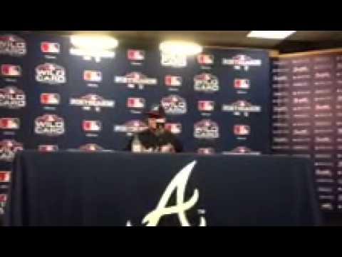 Braves Kris Medlen Talking To Media