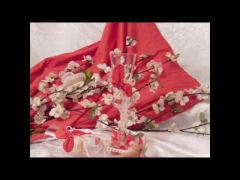 Декорирование свадебного бокала своими руками