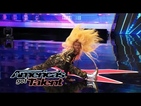 Stylish Talent: Professional Twerker Kills It - America's Got Talent 2014