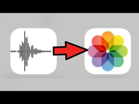 VOICE MEMOS TO VIDEOS; how to convert/ turn voice memos recordings into video files photos on Iphone