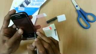 Inbase - How to Apply a Screen Guard - 3GPP2 - Mobile Phone 3GP Video - Stereo