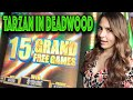 TARZAN Slot Machine 15 Grand Free Games in Deadwood SD!