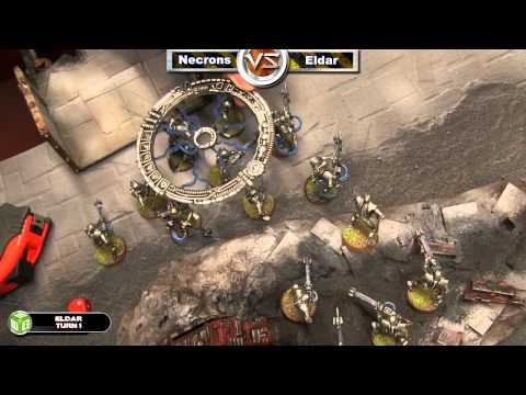 Necrons  vs Eldar Warhammer 40k Combat Patrol Battle R