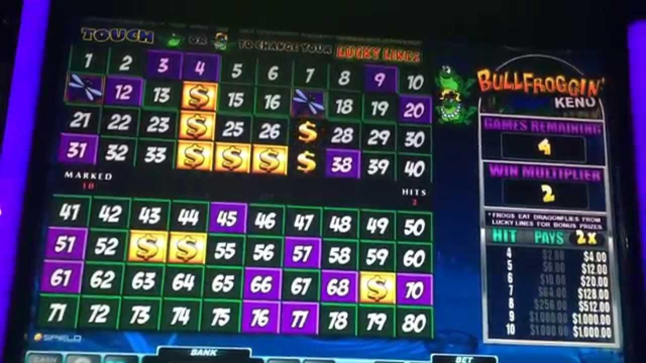cleopatra keno slot machine