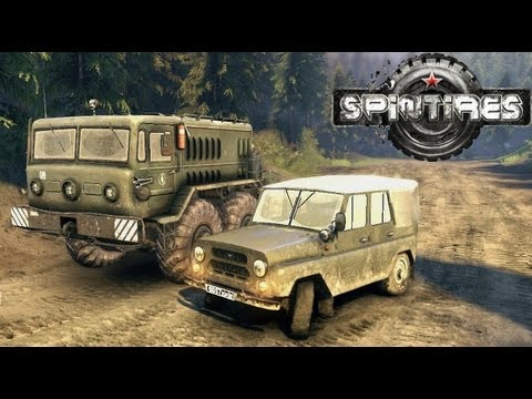 Spin Tires 2013 Tech Demo Update - UAZ Jeep Test Drive Part 1