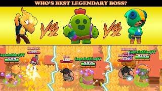 LEON VS PHOENIX CROW VS SPIKE IN BIG GAME :: Who's Best Legendary Boss? | Brawl Stars