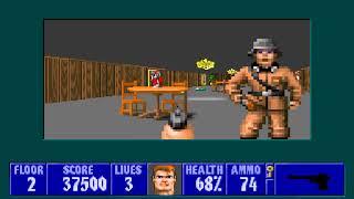 [MS-DOS] Wolfenstein 3D - Floor 2 (Episode III)