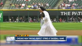 Chicago nun goes viral after perfect first pitch
