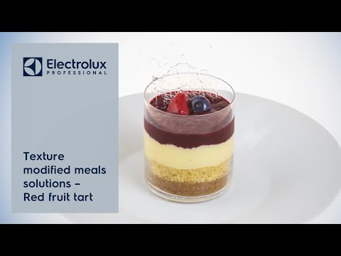 Texture modified meals solutions - Red fruit tart