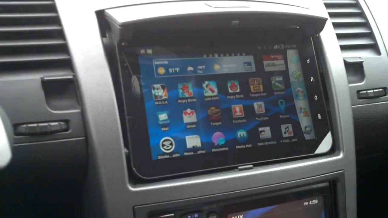 Tablet Used As Car Sign