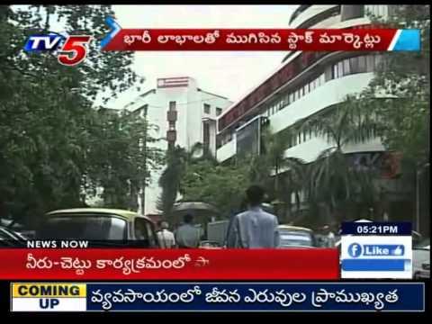 Sensex closes 506 points higher at 27105.39 : TV5 News