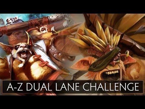 Dota 2 A-Z Dual Lane Challenge - Brewmaster and Bristleback