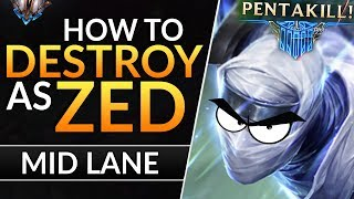The ULTIMATE ZED GUIDE - Best Tips and Tricks to CARRY and RANK UP | League of Legends Mid Guide