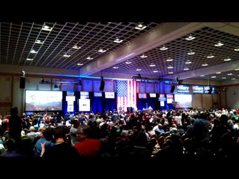 """Nevada Democratic Convention - """"Leave in an orderly fashion - we don't want to arrest people!"""" Ummm"""