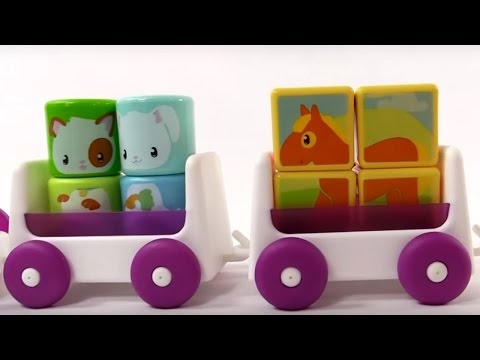 Развивающие мультики для маленьких: Малыши. Паровозик и Животные для детей