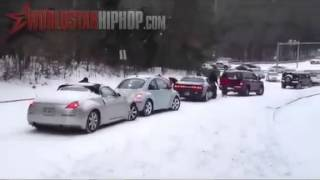 Snow Car Accident Compilation In Atlanta, GA January 28 29, 2014