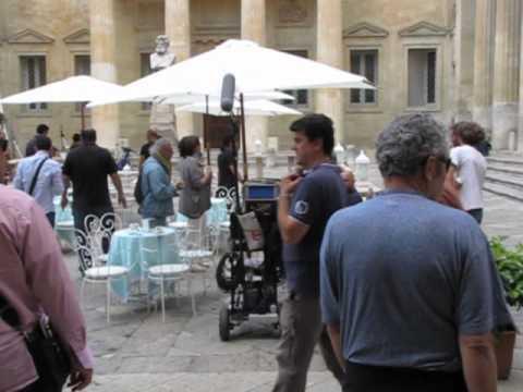 """Lecce, PLTV sul set di """"Allacciate le cinture"""" di Ferzan Ozpetek (Kasia Smutniak, Francesco Arca)"""