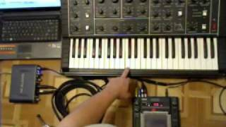 Analog synth Polivoks feat. Korg KAOSS PAD3 (rus\engl)