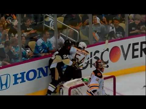 Matt Cooke hits Adam McQuaid from behind 5 Minute Penalty Game Misconduct HD June 1 2013