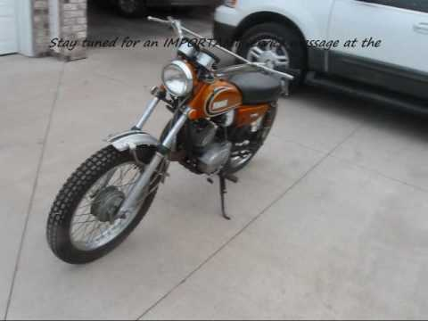 1973 Yamaha Enduro CT175 CT3 Vintage - Before Restoration