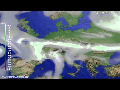 Precipitation forecast Europe 2015-04-13