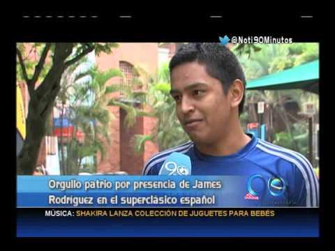 Octubre 24 de 2014. James Rodríguez jugará su primer derby español