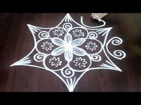 Very Very Easy Dotted Rangoli Design || Simple Chukkala Muggulu 3 x 2  || Fashion World