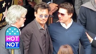 Johnny Depp meets Tom Cruise in Hollywood