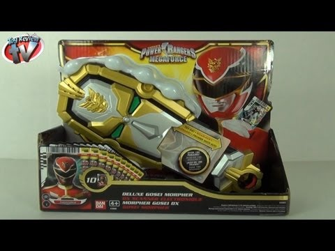 Power Rangers Megaforce Deluxe Gosei Morpher Toy Review. Bandai Toys