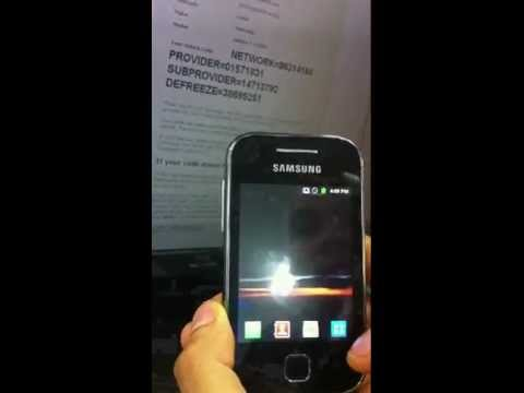 How to Unlock SAMSUNG Galaxy Y S5360  from Globe Telecom PH by Unlock Code. from Cellunlocker.net