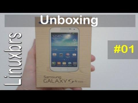 Samsung Galaxy S4 Mini Duos - i9192 - Unboxing e apresentação - PT-BR - Brasil