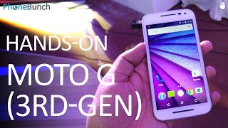 Moto G 3rd Generation Hands-on Overview and First Impressions