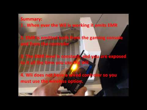 Radiation (RF EMF/EMR) emitted from Wii console and controllers.wmv