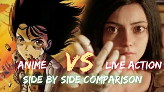 ALITA: Battle Angel Vs ANIME Version Comparison