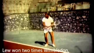 Lew Hoad.Backhand at tennis camp.Mijas (Spain) 1972