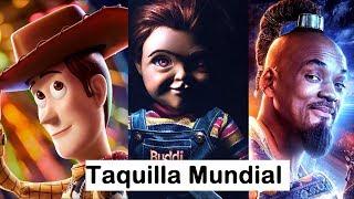 Toy Story 4 se apodera de la Taquilla Mundial, Aladdin supera los 800 millones, Remake de Chucky.